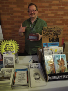 Steven Gilbert TCAFing it up the day after his DWA win (courtesy Conundrum press)